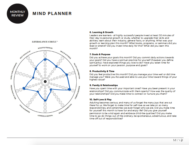 Mindplanner x Monthly review