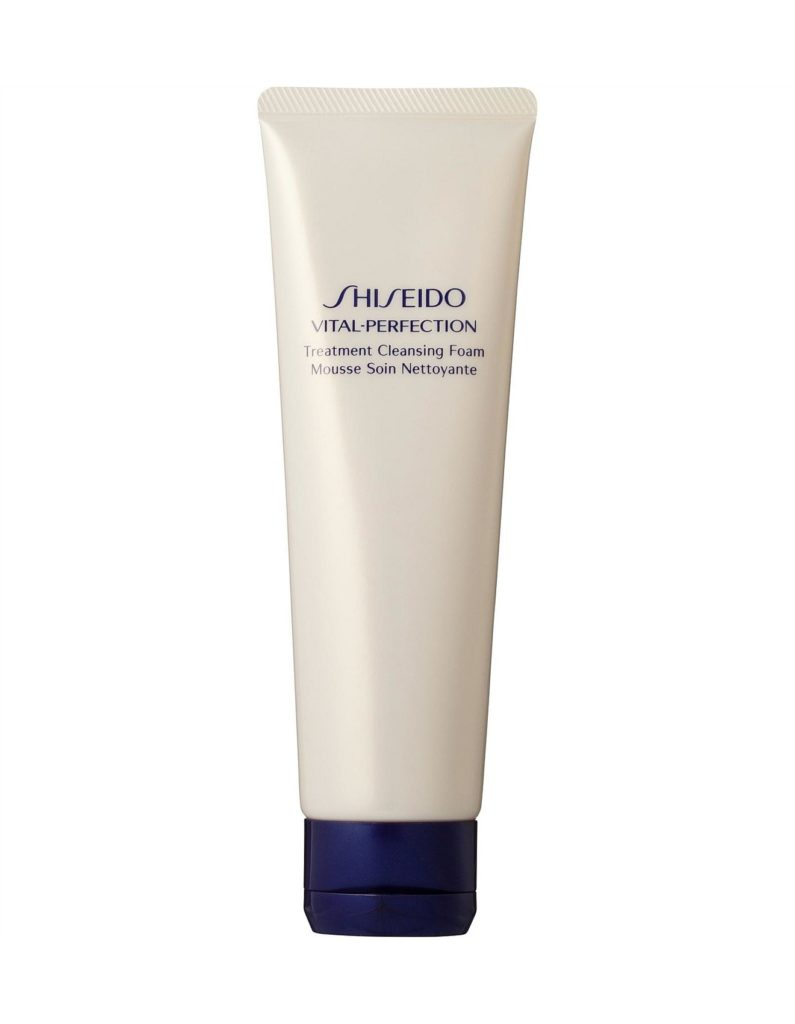 shiseido vital perfection treatment cleansing foam rosi ross quick night time routine